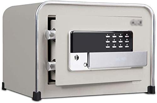 STRONG STEEL SAFE KEY SECURITY HOME OFFICE MONEY CASH SAFETY BOX BLACK