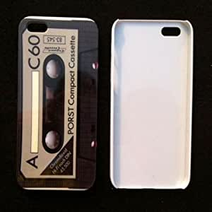 Retro Cassette Tape Hard Back Plastic Case For iPhone 5 --- Color:Green