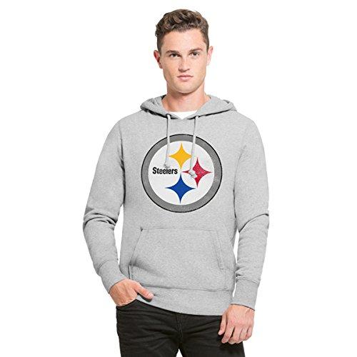 NFL Pittsburgh Steelers Men's '47 Knockaround Headline Pullover Hoodie, Large, Slate Grey