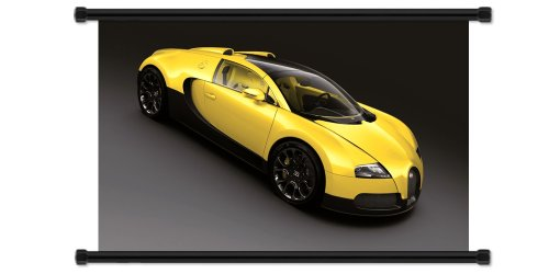 Bugatti Veyron Exotic Sports Car Fabric Wall Scroll Poster