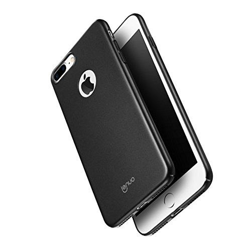 LENUO Rubberized PC Hard Tasche Hüllen Schutzhülle Case für iPhone 7 Plus 5.5 Inch - schwarz