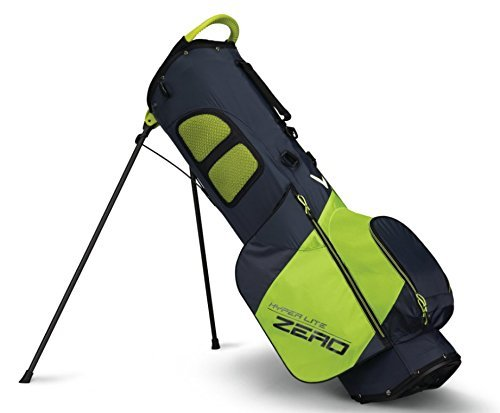 Callaway 2018 Hyper Lite Zero Double Strap Stand Bag Titanium/Neon Yellow/White (Best Light Carry Golf Bags)