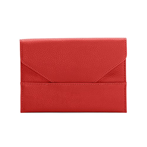 Leather Grain Photo (Photo Envelope - Full Grain Leather Leather - Scarlet (red))