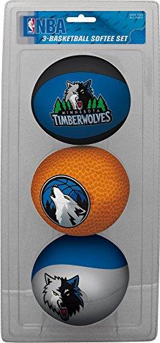 fan products of NBA Minnesota Timberwolves Kids Softee Basketball (Set of 3), Small, Green