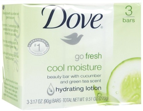 Dove Beauty Bar, Cool Moisture-3 Pack (Cool Moisture Lotion compare prices)