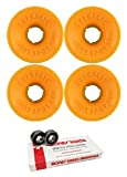 Seismic Skate Systems 69mm Hot Spot Defcon Longboard Skateboard Wheels with Bones Bearings - 8mm Bones Swiss Skateboard Bearings - Bundle of 2 items