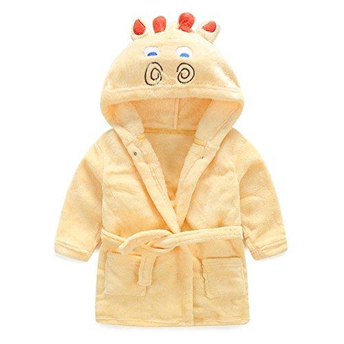 Mud Kingdom Cute Girl Bathrobe Hooded Animal Costume Plush Robe 5 Yellow Giraffe (The Kingdom Of The Yellow Robe)