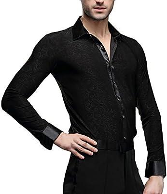 Hao Run - Camisa de Baile, diseño de Salsa, Color Negro, EU XXS/Asia S: Bust: 90-92cm/35.4-36.2 Inches, Negro: Amazon.es: Deportes y aire libre