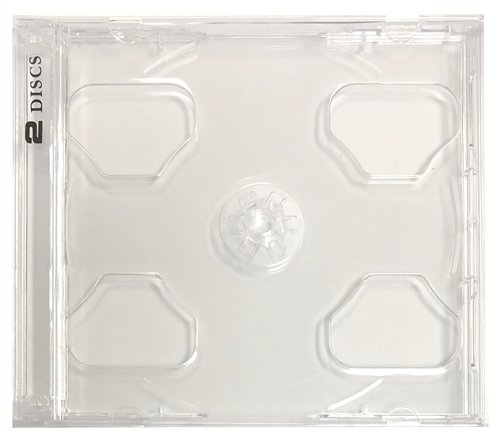 mediaxpo Brand 10 Standard Clear Smart Tray Double CD Jewel Case - Clear Case Tray Jewel