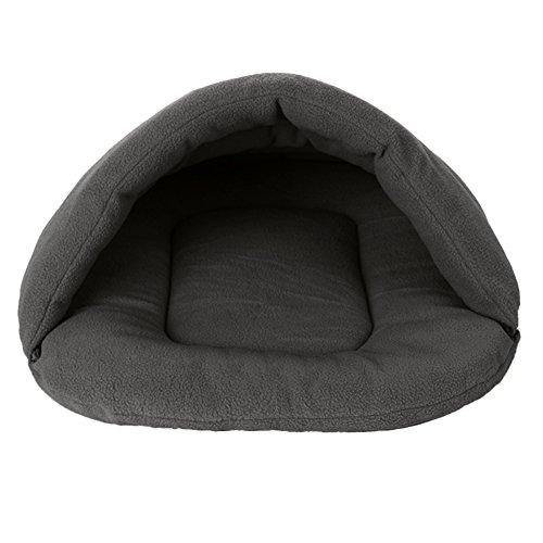 Niche sac de couchage chaud Cachemira pour animaux de compagnie de petite et moyenne taille Chien Chat Lapin M Gris