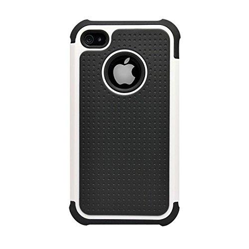 Katinkas KATIP41041 Dual Case für Apple iPhone 4/4S Extra-Tough-Serie weiß