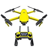 Solid State Yellow Decal Kit for DJI Mavic 2/Zoom Drone - Includes 1 x Drone/Battery Skin + Controller Skin