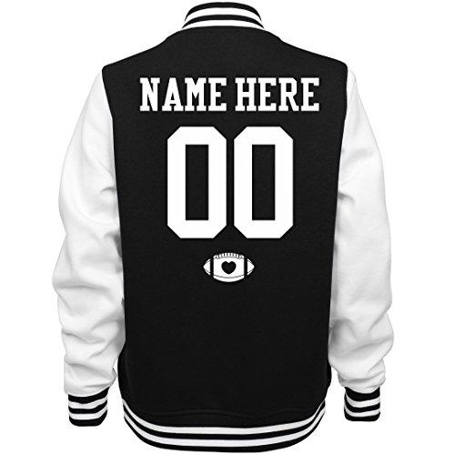 Varsity Football Mom Custom Name: Ladies Fleece Letterman Varsity Jacket