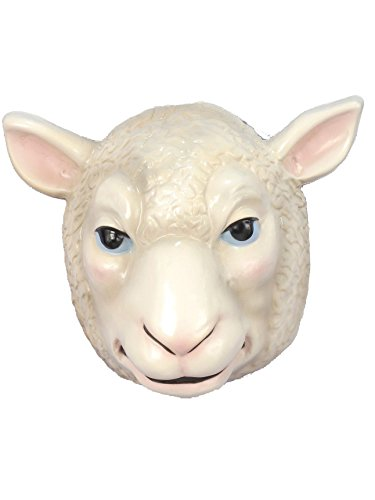 Forum Novelties Child's Plastic Animal Mask, Sheep -