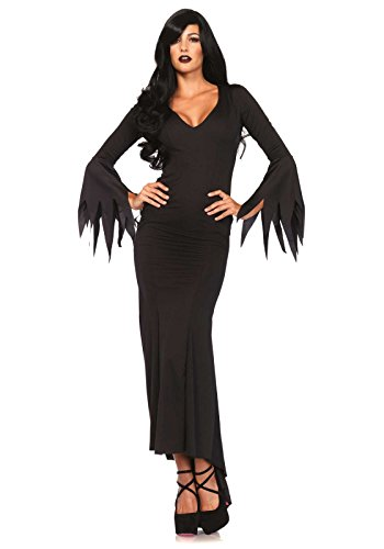[Leg Avenue Women's Gothic Costume Dress, Black, Medium/Large] (Halloween Costumes Elvira)