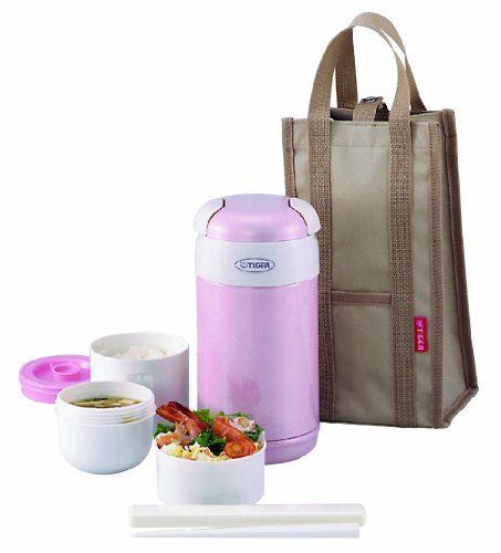 Tiger LWR-A092 Thermal Lunch Box, Pink by Tiger Corporation