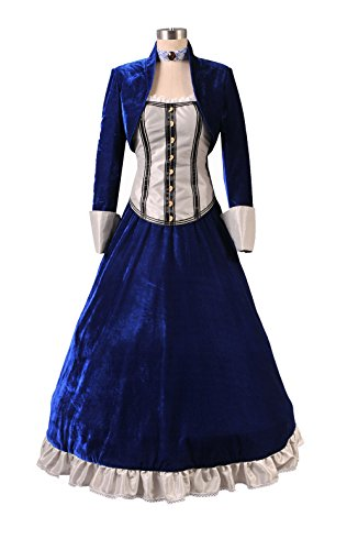TISEA Women's Hot First-Person Shooting Game Film Cosplay Costume (S, Blue) -
