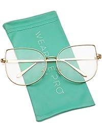 Clear Thin Frame Oversized Delicate Non- Prescription...