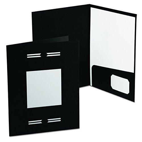 Oxford 10071 Imperial Series Laserview Business Portfolio, Premium Paper, Black (Pack of (Esselte Window Portfolio)