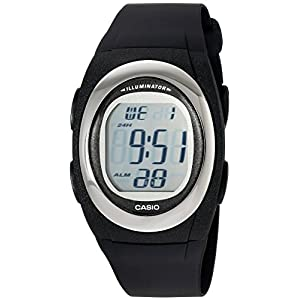 Casio Men's FE10-1A Classic Digital Black Resin Band Watch