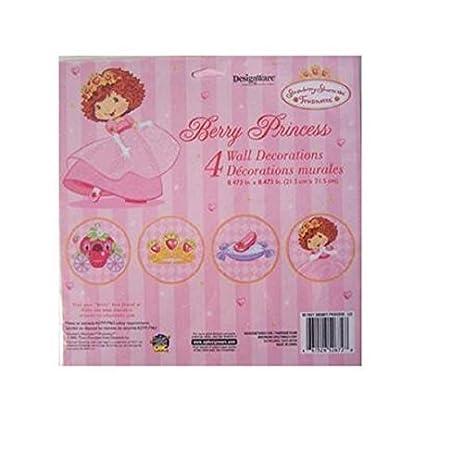Amazon.com: Strawberry Shortcake Berry Princess Wall Decorations 4 ...