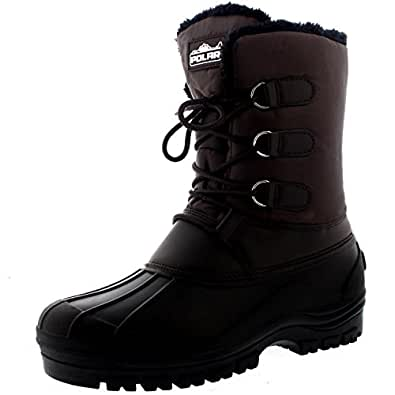 Mens Muck Lace Up Short Nylon Winter Snow Rain Lace Up Casual Duck Boots - 9 - BRO42 YC0142