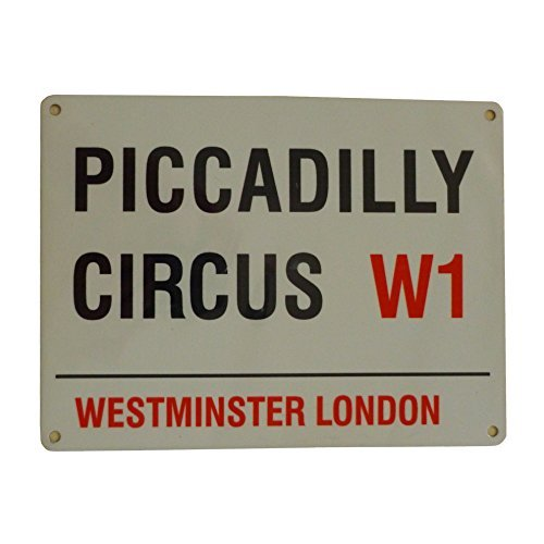 Piccadilly Circus W1 London Sign - Steel, 20 x 15cms by Original London Street Signs