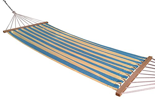 Oak N Oak 3Ft Wide Single Person Canvas Fabric Hammock - Calypso
