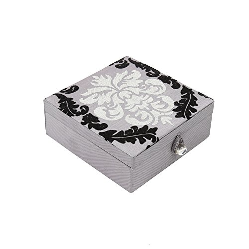 truu diseño, 4.75x 4.75x 2inches, decorativo caja de almacenaje, Gris