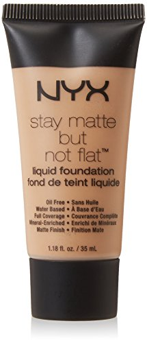 NYX PROFESSIONAL MAKEUP Stay Matte but not Flat Liquid Foundation, Olive, 1.18 Fluid ()