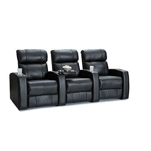 (Palliser Westley Leather Home Theater Seating Power Recline - (Row of 3,)