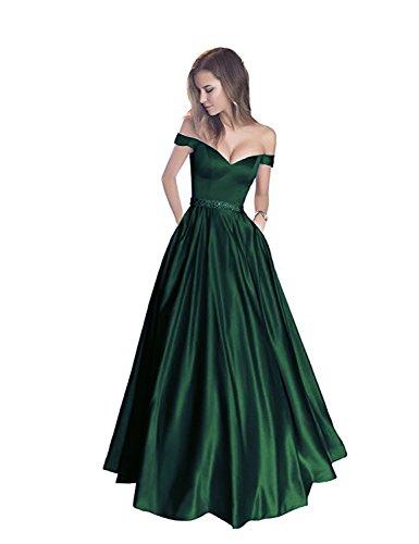 Shoulder Beaded Waist Gown - 4