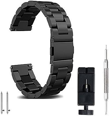 FashionAids Correa Reloj 22mm 20mm 18mm, Correa Reloj de Acero ...