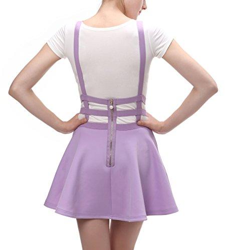 Urban GoCo Falda Plisada con Cintura Elástica para Mujeres Lavander