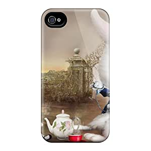 Defender Case With Nice Appearance (alice In Wonderland) For Iphone 4/4s