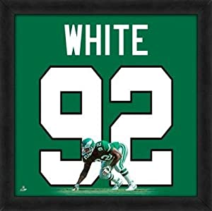 Reggie White Eagles Jersey Uniform 20 x 20 Framed Photo - Licensed NFL Memorabilia
