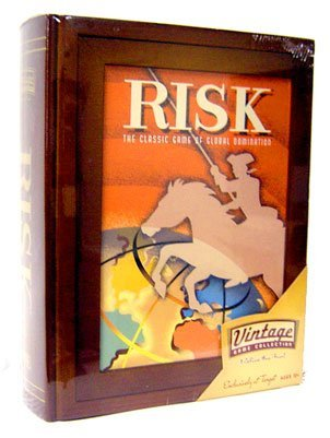 Risk ~ Parker Brothers Vintage Game Collection Wooden Book Box