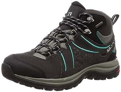 Salomon Women's Ellipse 2 Mid Gore-Tex Trekking & Hiking Boots, Phantom/Castor Gray/Aruba Blue, 6.5 US