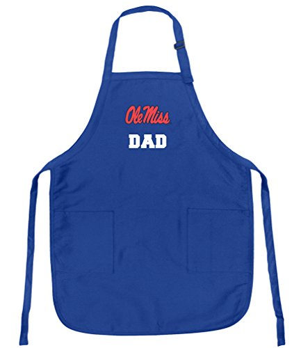 Broad Bay Deluxe Ole Miss Dad Apron w/Pockets Barbecue Grilling Kitchen Cooking