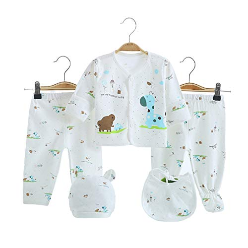Baby Layette Unisex (5PCS Newborn Girl Boy Clothes Unisex Photography Outfits Baby Gifts Layette Sets Blue)