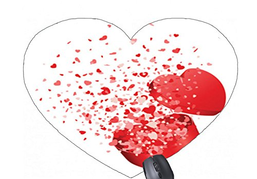 (Happy valentines day animated clip art pattern printed heart-shaped mouse pad)