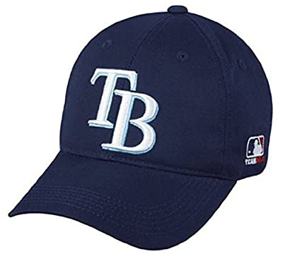 MLB ADULT Tampa Bay RAYS Home Navy Blue Hat Cap Adjustable Velcro TWILL by OC Sports Team MLB Outdoor Cap Co.