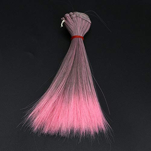 (Aviat Straight Wigs Feather Hair Extensions Gradient Hairpieces 15 cm DIY/BJD Fashion Decor for Party/Halloween/Cosplay/Daily)