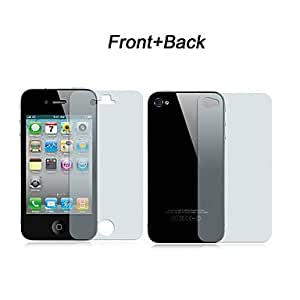 5 x Front and Back Clear Screen Protector Full Body with Cleaning Cloth for iPhone 4/4S (Total 10pcs)
