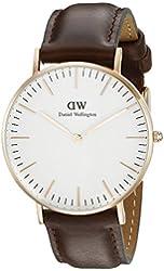 Daniel Wellington Women's 0511DW Classic Bristol Analog Display Quartz Brown Watch
