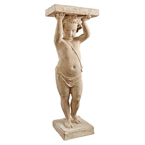 Design Toscano Royal Palace Of Caserta Cherub Pedestal by Design Toscano
