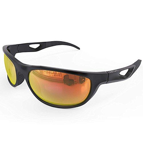 Shtorz Polarized Sports Sunglasses for Men & Women – For Running Cycling Hiking Biking Baseball Fishing etc. – Unbreakable & Flexible TR90 Frame – Lenses with Anti Glare Anti Scratch Coating