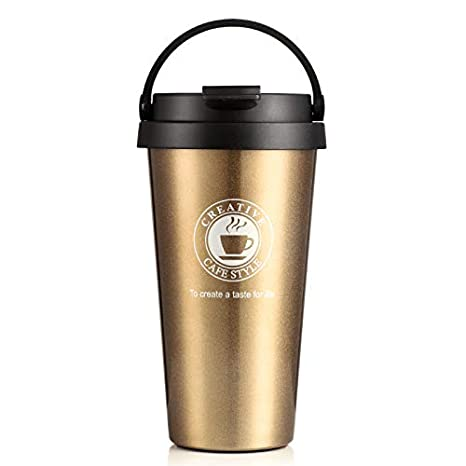 Amazon.com: Taza térmica de 500 ml de acero inoxidable para ...