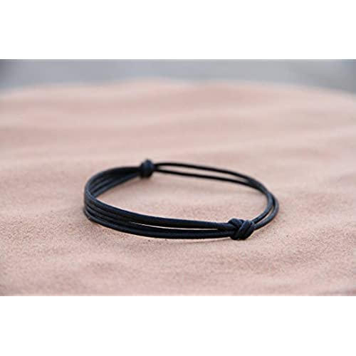 """The Wanderer"" Adjustable Bracelet of Layered Black Hemp Cord - Handmade by Fortunate Wanderer"