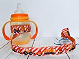 Baby Sippy Cup Strap Suction Cup Bottle Toy Tether Holder Baby Gift - Construction Trucks